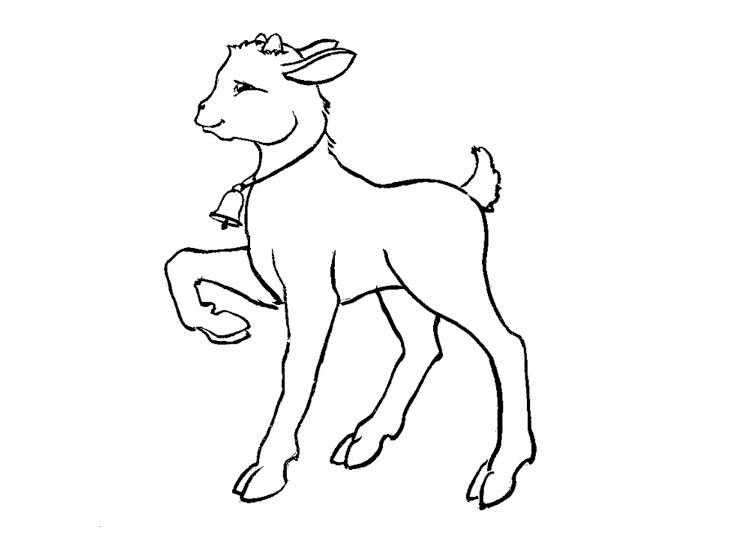 Картинки раскраска козлята