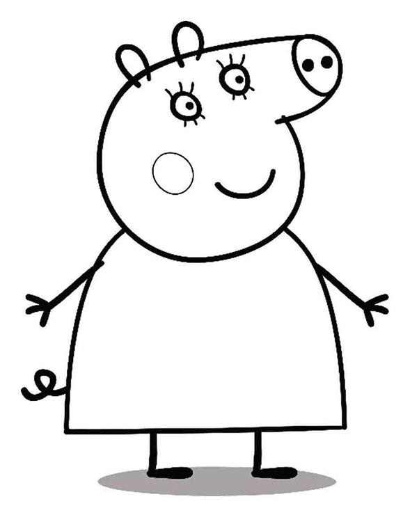 Раскраски Свинка Пеппа