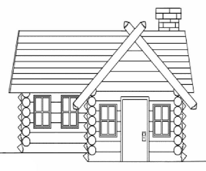 большой рисунок деревенский домик с узорами нестандартному