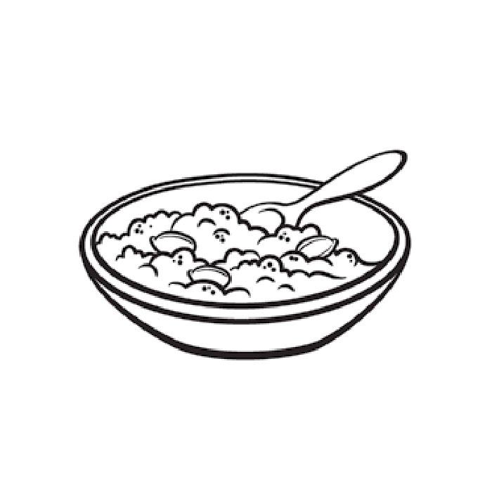 тарелка с кашей