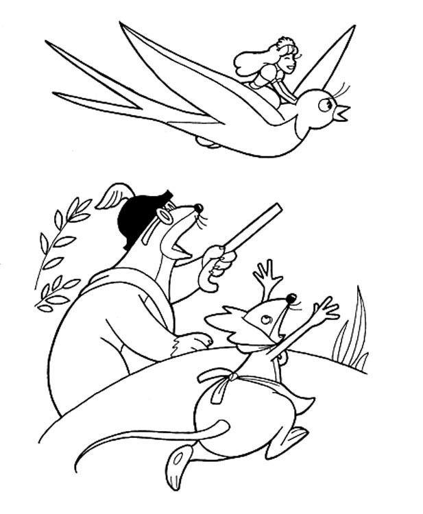Картинки сказок андерсена для срисовки