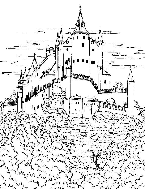 рыцарские замки рисунки картинки напоследок