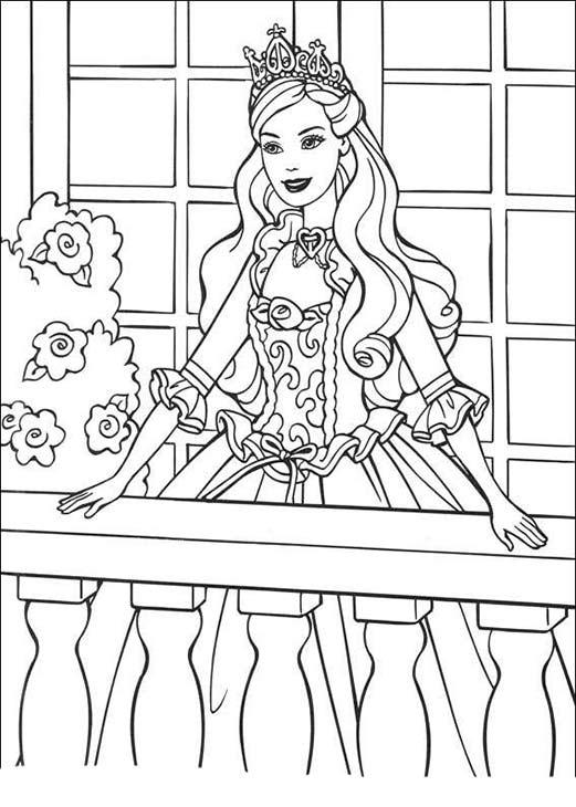 принцесса барби на балконе