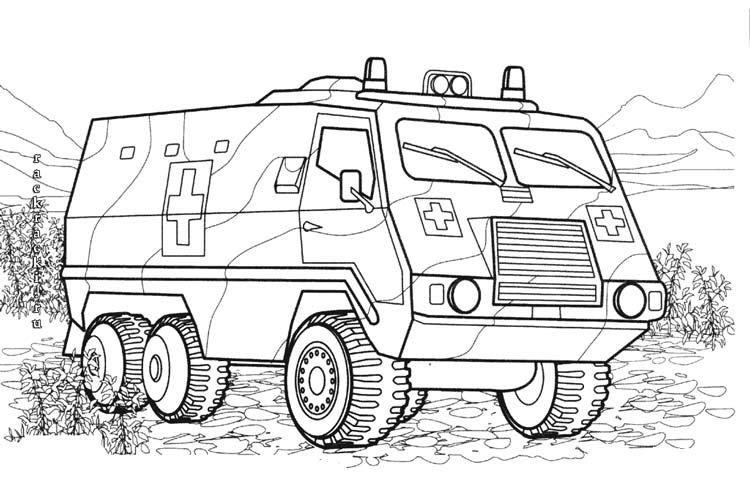 Военная спасательная машина
