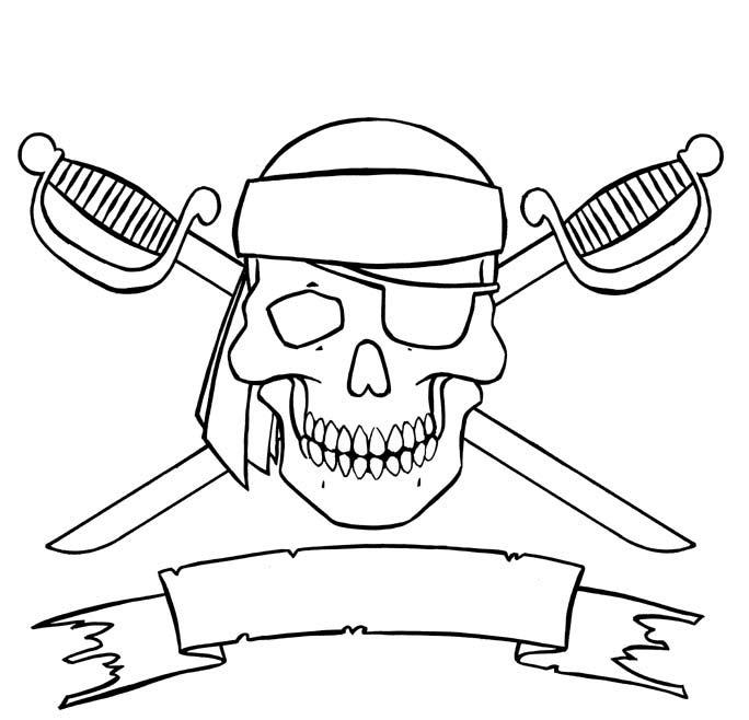 весёлый роджер череп и сабли