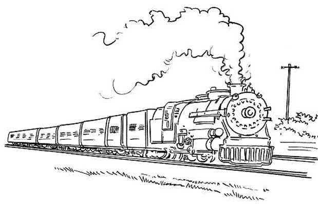 Поезд Картинка Для Детей Раскраска