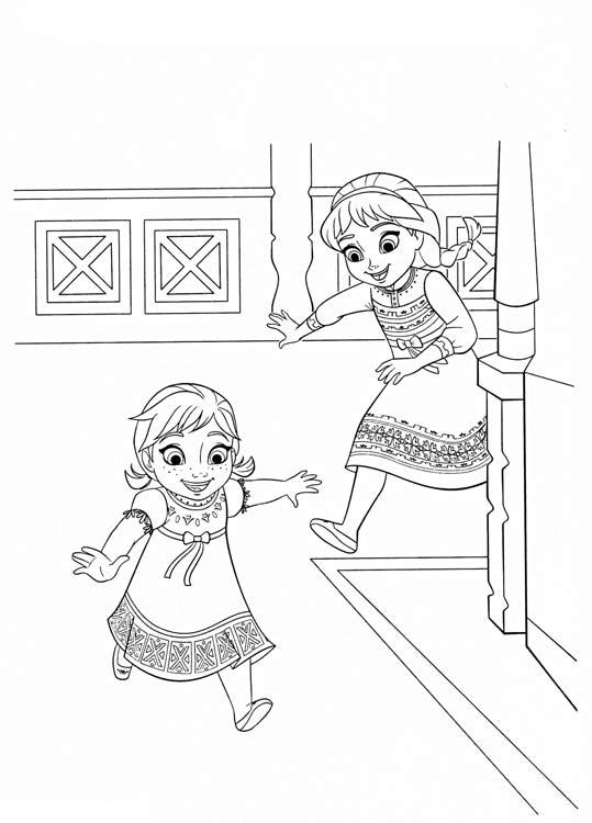 Анна и Эльза в детстве