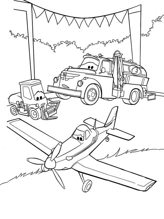 Напечатать раскраски о самолетах