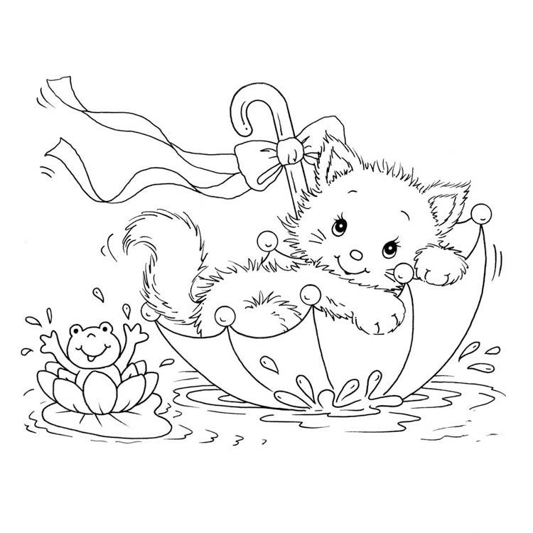 Раскраски котиков для девочек