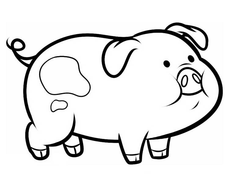 свинья для детей картинка
