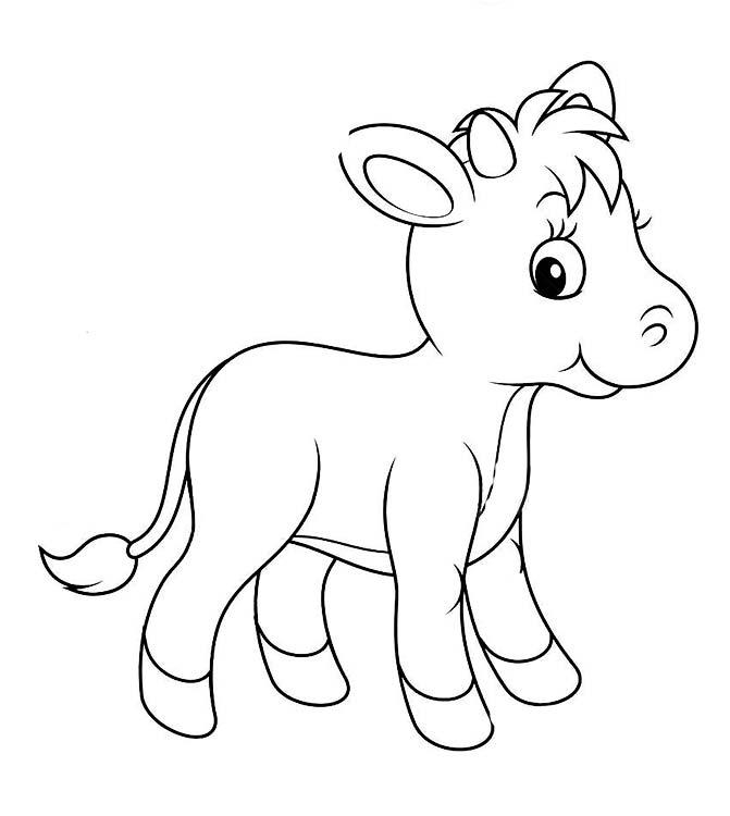 Раскраски теленок и корова