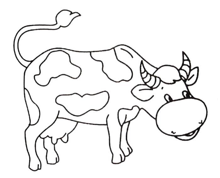 Картинка раскраска коровы для детей 153