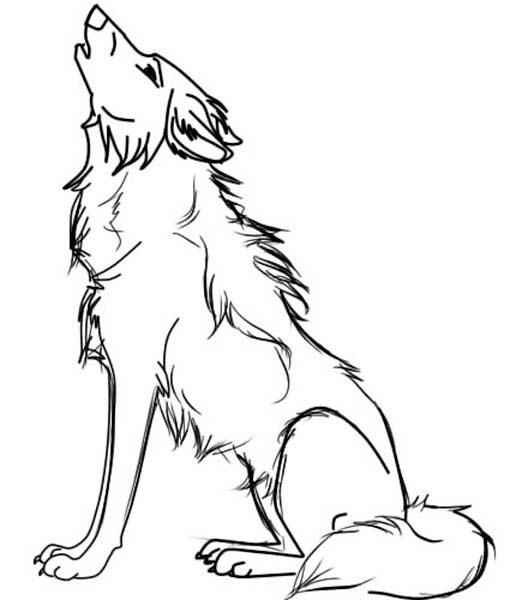 Раскраски волки воющие