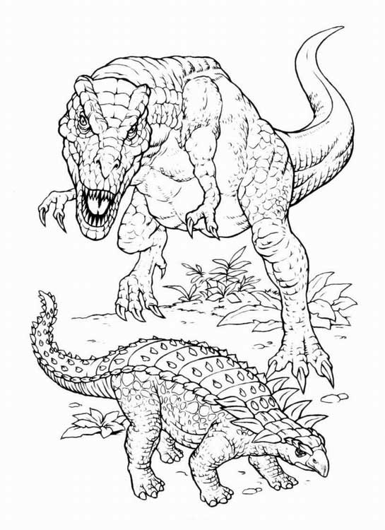 Раскраски печать динозавры
