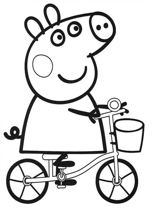 Раскраска свинка пеппа для детей 2 лет