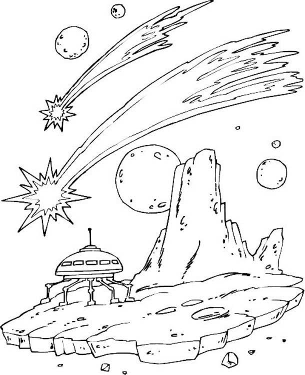 Раскраска для детей про космос