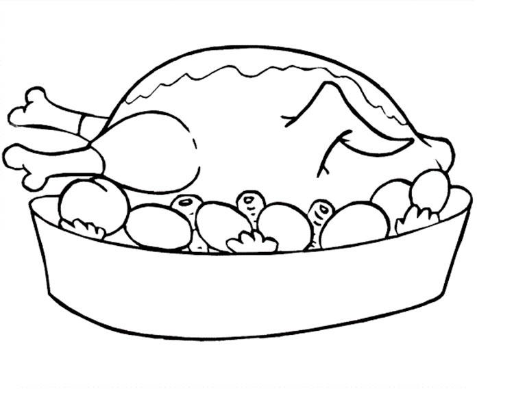 Раскраска про еду для детей