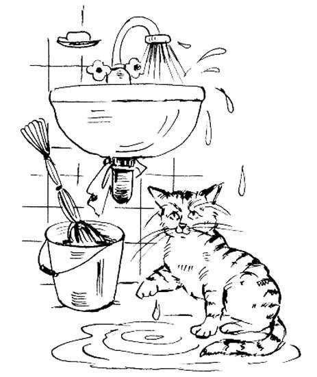 Как мы бережем воду раскраска