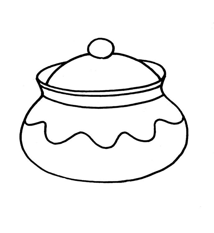 Раскраски посуда для малышей