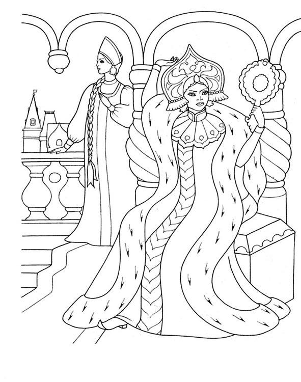 Сказки пушкина картинки раскраска