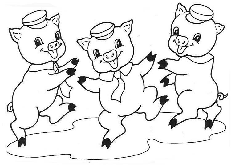 Как нарисовать трех поросят к сказке