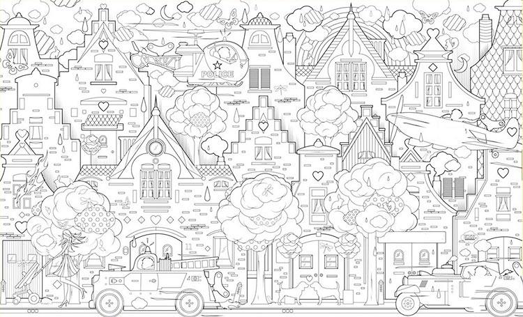 Раскраска городки