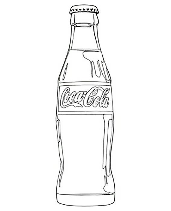 Рисунок бутылка кока колы