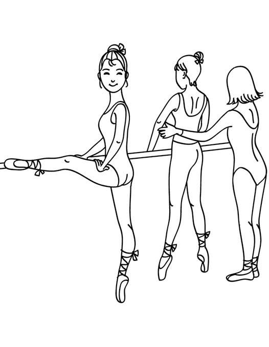 Раскраска танцы девочка - 8