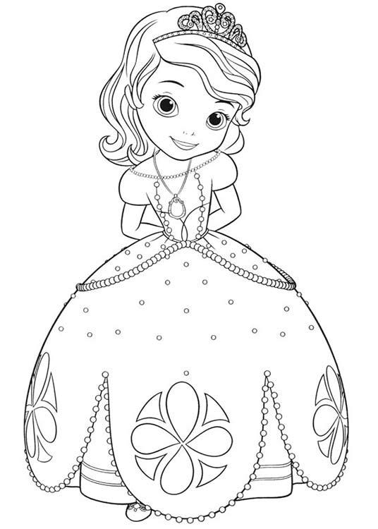 Раскраска для девочек софия прекрасная - 3