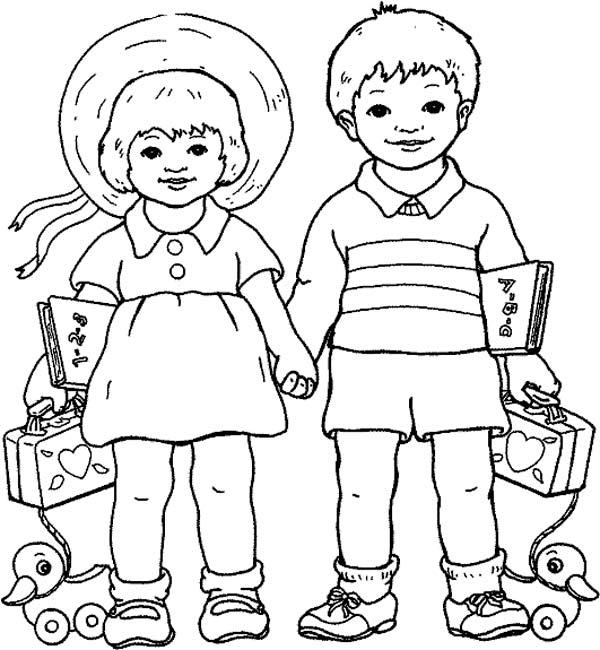Изображения детей в раскрасках
