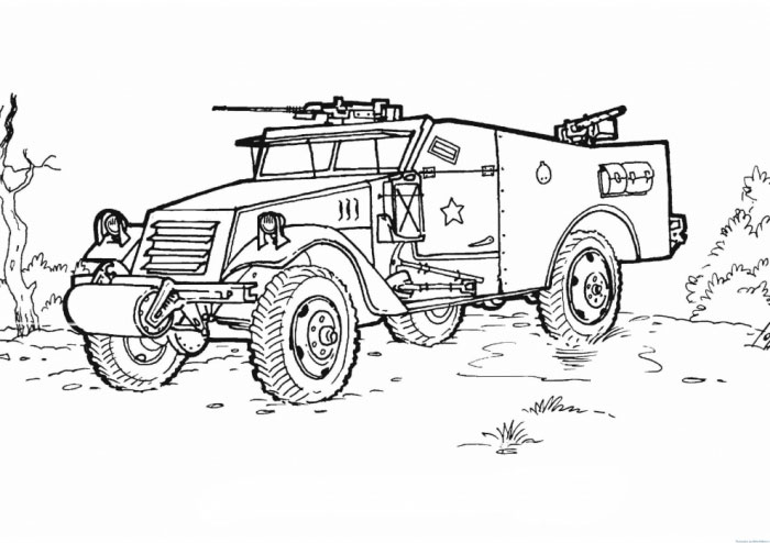 Раскраска для военной техники