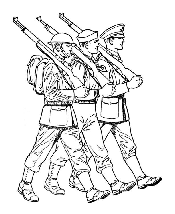 Армейского раскраска