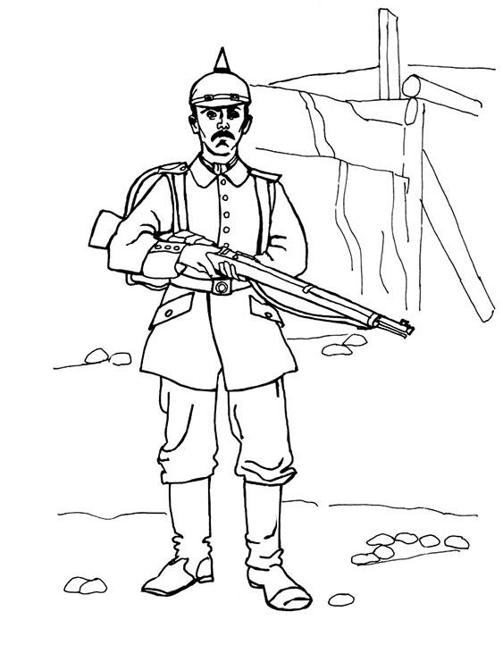 Раскраски для мальчиков солдаты - 4