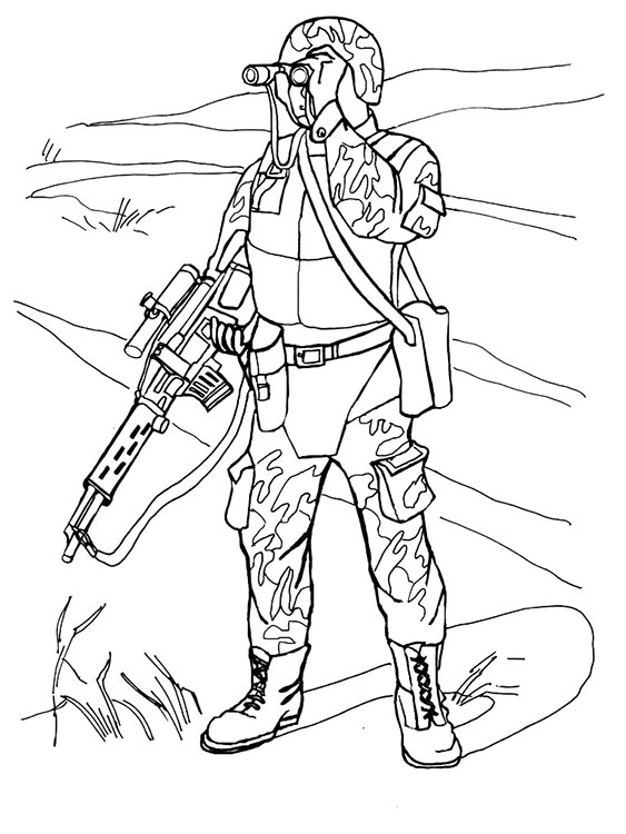 Раскраски для мальчиков солдаты - 3