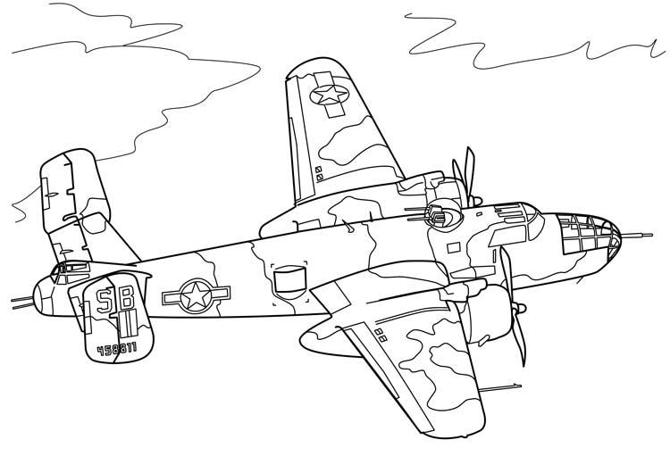 Самолеты раскраски для мальчиков распечатать - 6