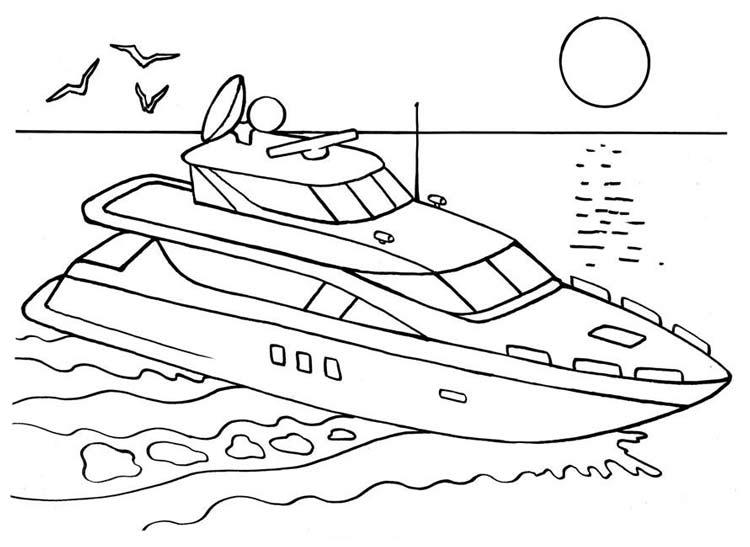 Раскраски корабли - 3