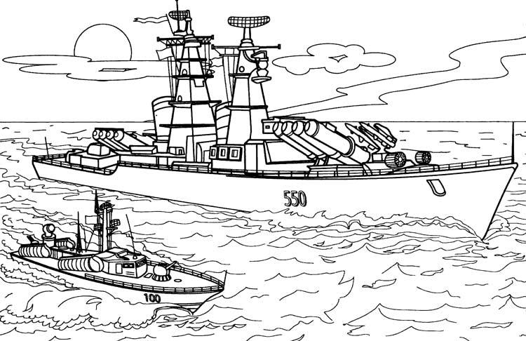 Корабли и лодки раскраски