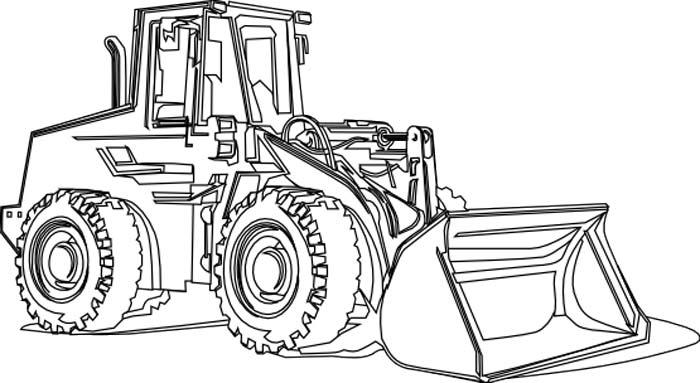 Раскраски для мальчиков трактора распечатать - 8