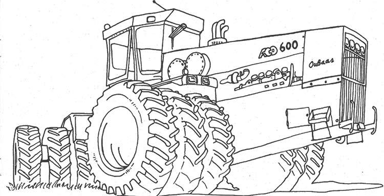 Раскраска про трактор онлайн бесплатно