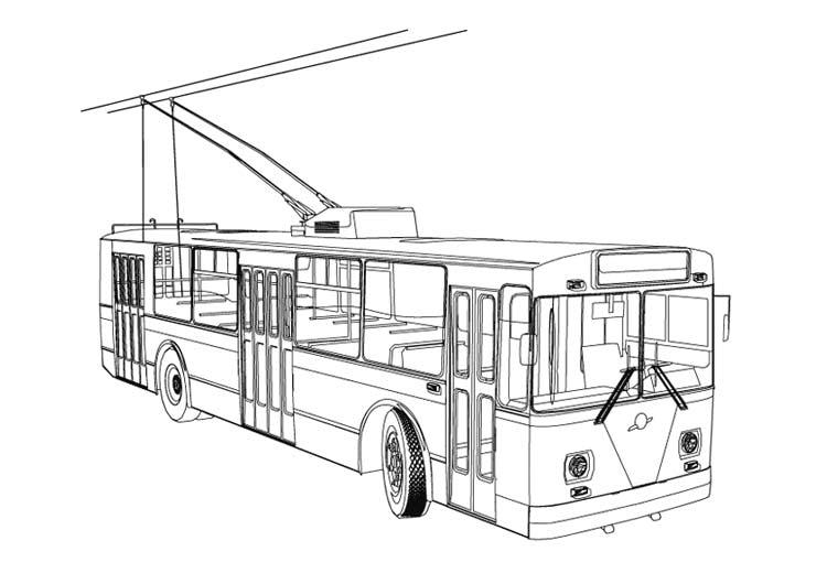 Раскраска транспорт - 1