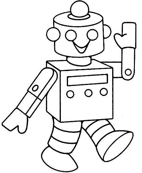 Раскраски роботы - 3