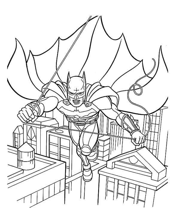 Раскраски бэтмена и человека паука