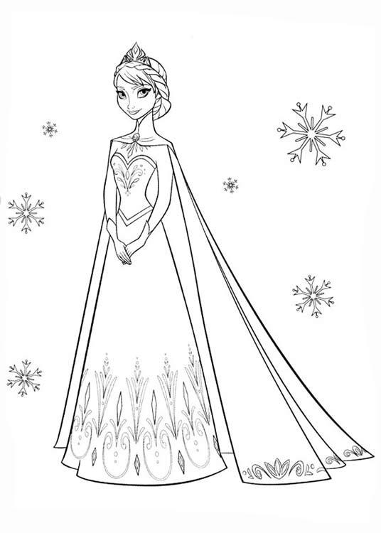 картинки раскраски принцессы эльзы раскраски холодное