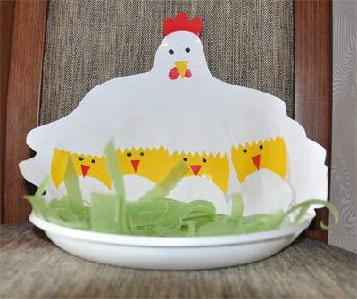 Поделки курица с цыплятами