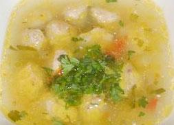 Суп рыбный с крупой