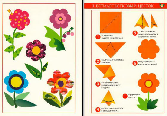 цветов по опорной схеме (с