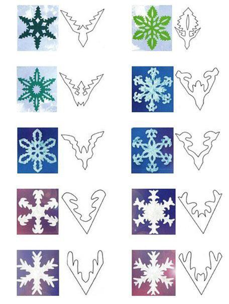 Простые схемки снежинок для